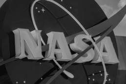 Photo of the NASA logo